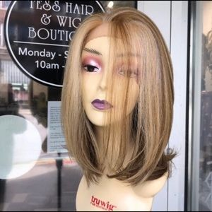 Blonde wig Bob Mix 12 inch Long human hair Blende